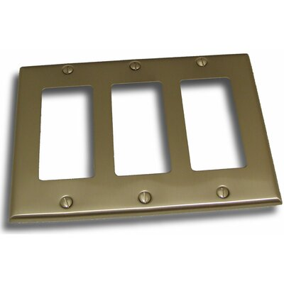 Triple GFI Plate Finish: Satin Nickel
