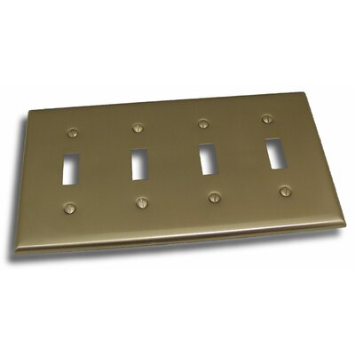 Quadruple Switch Plate Finish: Satin Nickel