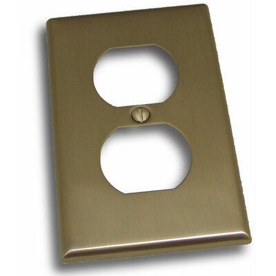 Single Recep Plate (Set of 3) Finish: Satin Nickel