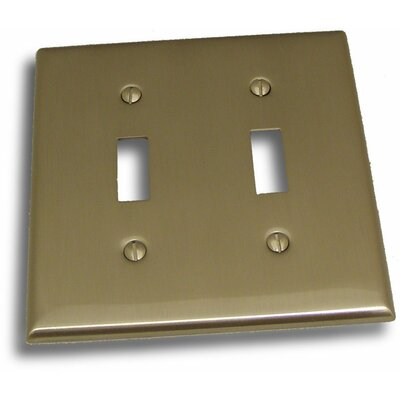 Double Switch Plate Finish: Satin Nickel