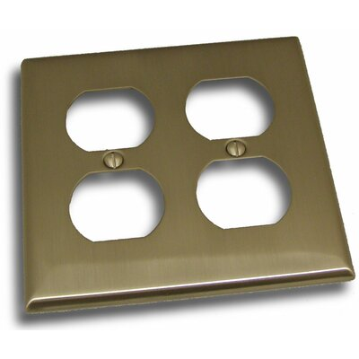 Double Recep Plate Finish: Satin Nickel