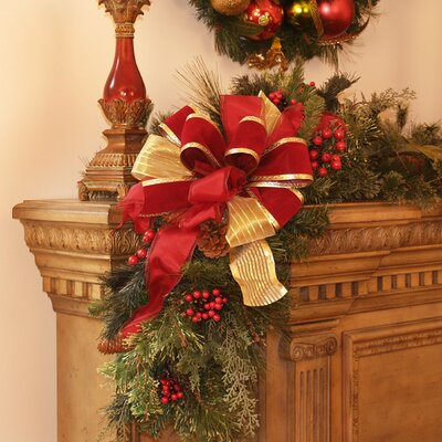 Floral Home Decor Holiday Mantle Corner Piece