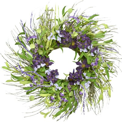 Faux Hydrangea & Lily Wreath