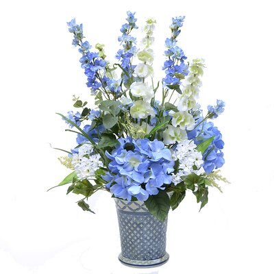 Delphinium and Hydrangea Floral Arrangment