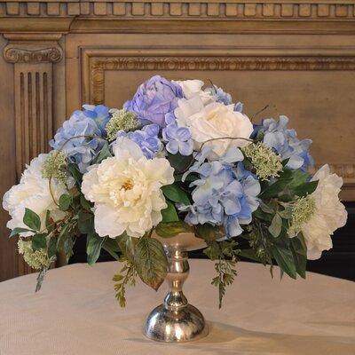 Silk Floral Design in Bowl