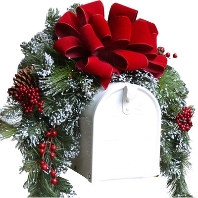 Christmas Mailbox Cover with Flocked Snow CR1048