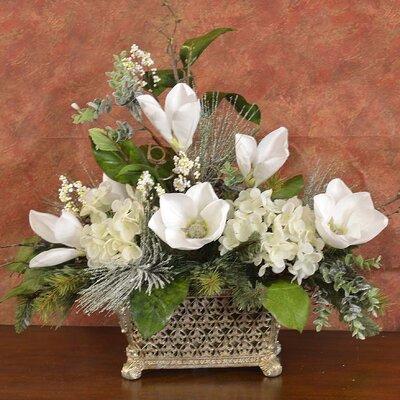 Elegant Magnolia Floral Arrangement