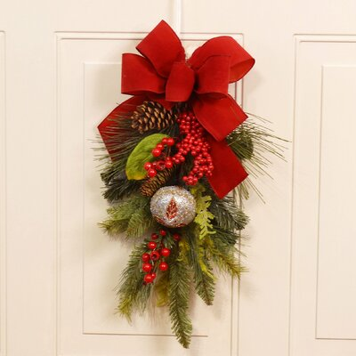 Christmas Pine and Berry Door Swag
