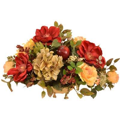 Magnolias Silk Floral Centerpiece in Bowl