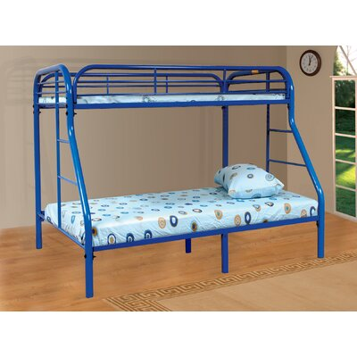 Twin over Full Bunk Bed Color: Blue
