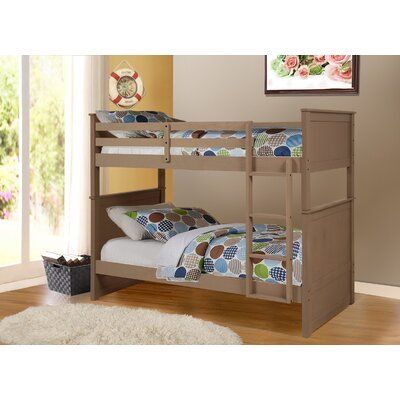 Fannie Twin Over Twin Storage Bunk Bed Color: Sand Wash