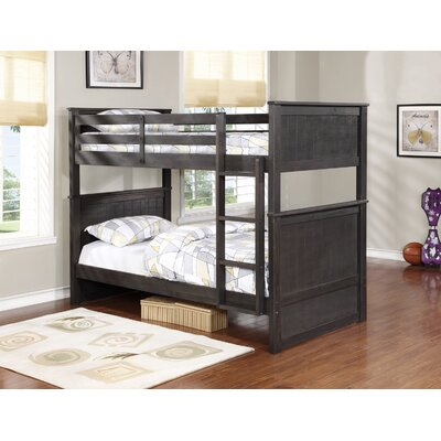 Fannie Twin Over Twin Storage Bunk Bed Color: Charcoal