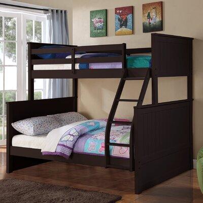 Ciera Twin over Full Loft Bunk Bed Color: Espresso