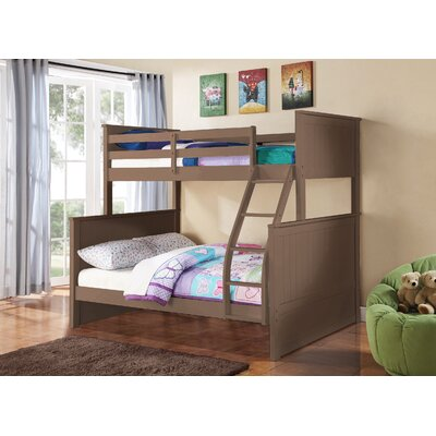 Ciera Twin over Full Loft Bunk Bed Color: Sand/Taupe