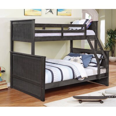 Hudson Twin over Full Loft Bunk Bed Color: Charcoal Grey