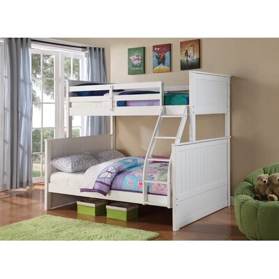 Ciera Twin over Full Loft Bunk Bed Color: White