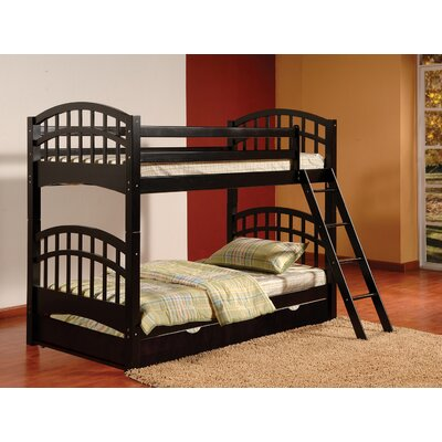 Cowen Twin Bunk Bed with Trundle Finish: Black
