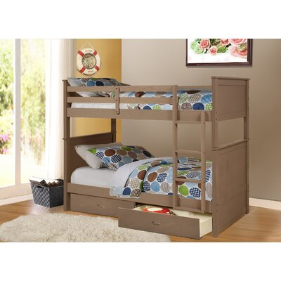 Clarion Twin Over Full Storage Bunk Bed Finish: Sand Wash