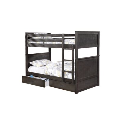Clarion Twin Over Full Storage Bunk Bed Finish: Charcoal