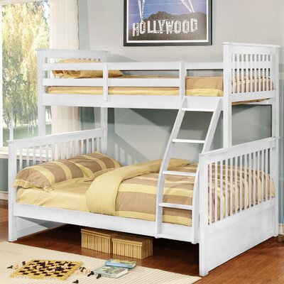 Liberty Over Full Bunk Panel Bed Color: White