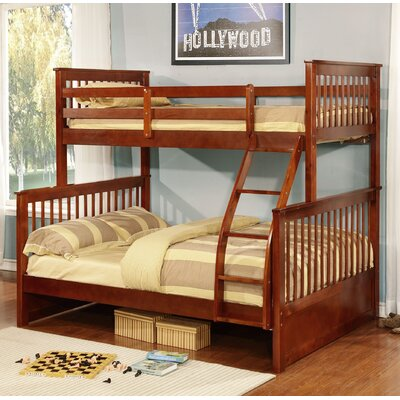 Liberty Over Full Bunk Panel Bed Color: Walnut