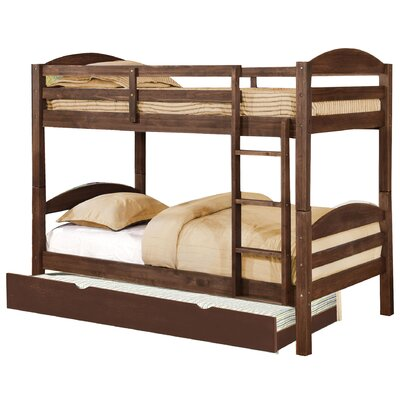 Daryl Twin over Twin Bed with Trundle Color: Chestnut