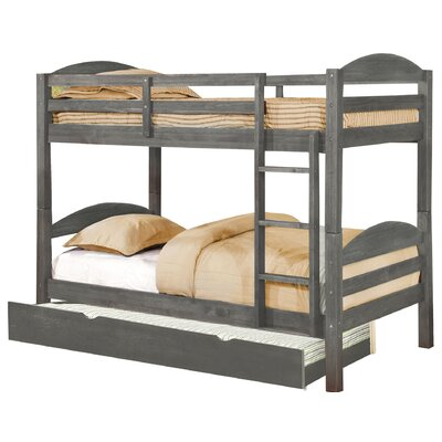 Daryl Twin Bed with Trundle Finish: Rustic Gray