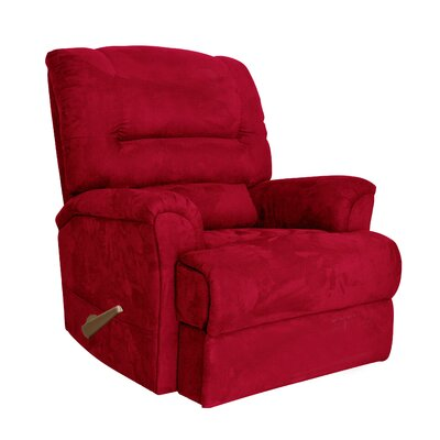 Alyson Larger Scale for Extra Comfort Rocker Recliner Color: Red