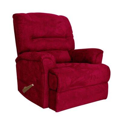 Alyson Larger Scale for Extra Comfort Rocker Recliner Color: Crimson