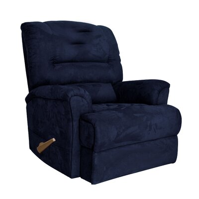 Alyson Larger Scale for Extra Comfort Rocker Recliner Color: Midnight Blue
