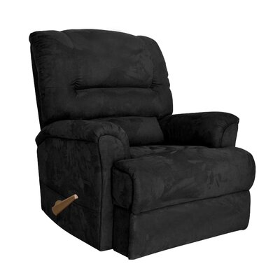 Alyson Larger Scale for Extra Comfort Rocker Recliner Color: Black