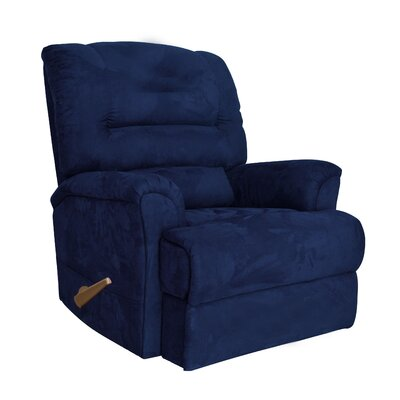 Alyson Larger Scale for Extra Comfort Rocker Recliner Color: Navy Blue