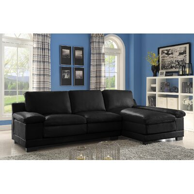 Cristy Sectional Upholstery: Black