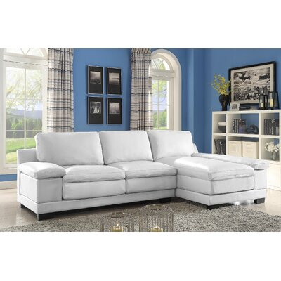 Cristy Sectional Upholstery: White