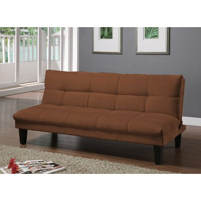 Gages Futon Convertible Sofa Upholstery: Saddle