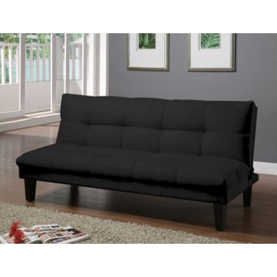 Gages Futon Convertible Sofa Upholstery: Black