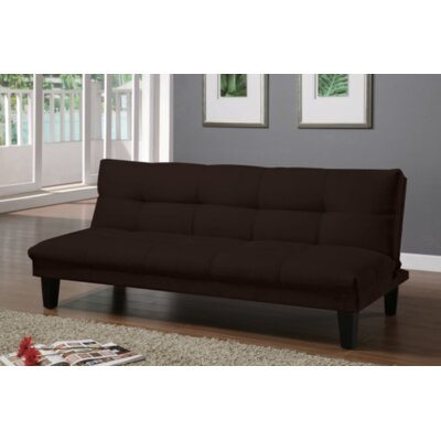 Gages Futon Convertible Sofa Upholstery: Chocolate