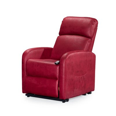 Chesebrough Power Lift Assist Recliner Upholstery: Red
