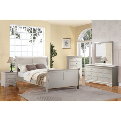 Julie Sleigh 5 Piece Bedroom Set