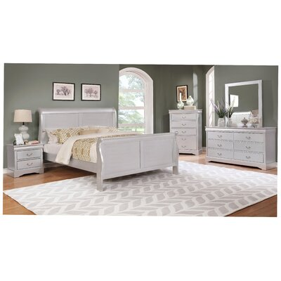 Caterina Queen Sleigh 5 Piece Bedroom Set