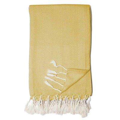 Herringbone Throw Blanket Color: Citron