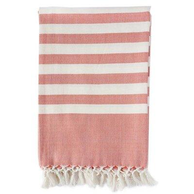 Classic Stripe Throw Blanket Color: Tangerine