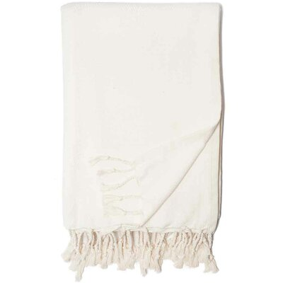 Herringbone Throw Blanket Color: White