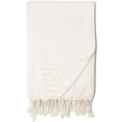 Herringbone Throw Blanket Color: White