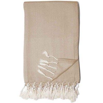 Herringbone Throw Blanket Color: Tannin