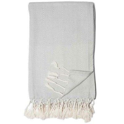 Herringbone Throw Blanket Color: Mist / Light Gray