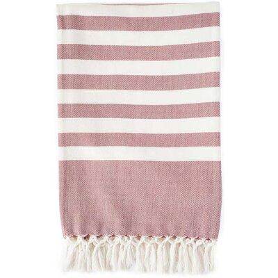Classic Stripe Throw Blanket Color: Marsala