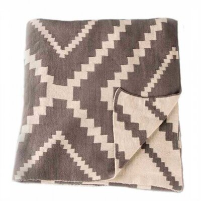 Vernon Throw Blanket Color: Fog