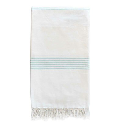 Hudson Organic Cotton Throw Color: Aqua