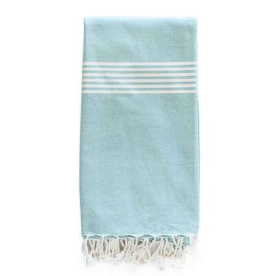Bodhi Beach Organic Cotton Throw Color: Aqua